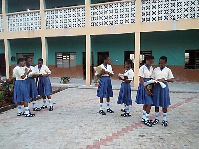 Students of the Mary Queen of Angels Catholic Girl's Secondary School in Akure, Ondo State, Nigeria. This project started in 2005 with two sisters and  Sr. Celina Adegun, SSMA, an SLDI alumna who served as the school principal until 2015. Since inception three more SLDI alumnae served at the school; Sr. Marcelina Bamisaye, SSMA as Vice President, Sr. Agnes Ayedun, SSMA as Bursar, and Sr. Benedicta Tokede, SSMA as a classroom teacher.
