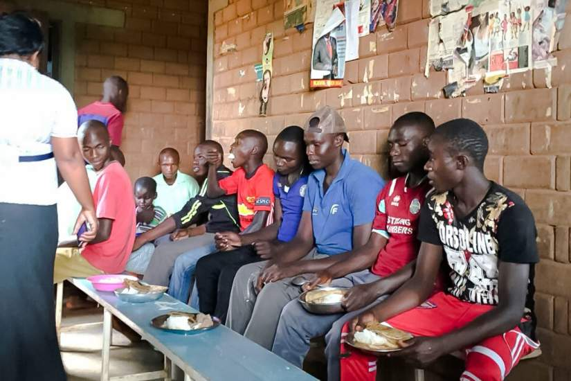 Sr. Faith and her colleagues held a football and volleyball tournament held by her, where primary school children went against the secondary school children. Afterwards, she hosted a party to congratulate them for their good work. They cooked and enjoyed a meal together as a family.