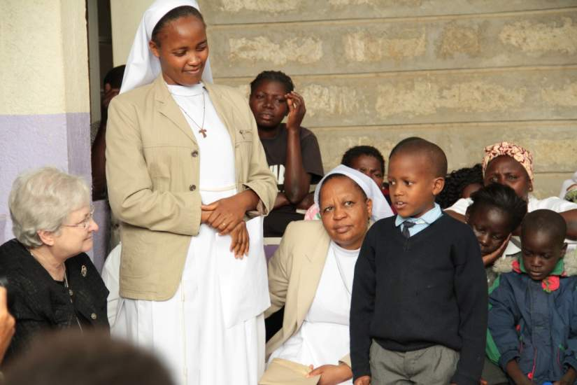 """7-year-old Emmanuel John Zachary, a member of the child support group at St. Francis Hospital epitomized the work of the sisters... """"I know that I am [HIV] positive, I have learned to live positively, eat a balanced diet, take my drugs and work hard at school... my life is the hands of the sisters!!!"""""""