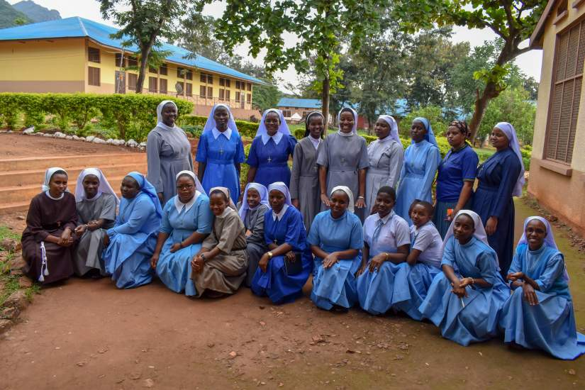 2019 Secondary School Scholarship Recipients at Bigwa Sisters Secondary School in Morogoro, Tanzania. Forty students were served at this location in 2019, with 20 new and 20 returning scholarship recipients.