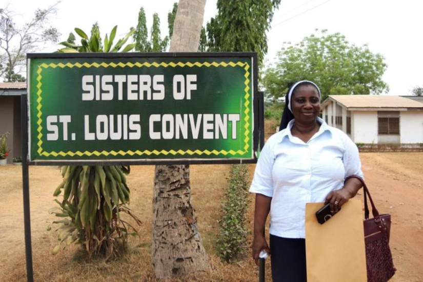 Sr. Mary Frimpong oversees 1,000 medical staff as the director of the diocesan health services. All of the St. Louis Sisters in the diocese work in hospitals or clinics. Photo Credit: Global Sisters Report