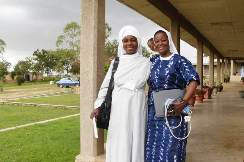 Sr. Clare, DHS and Sr. Leonie, SOM