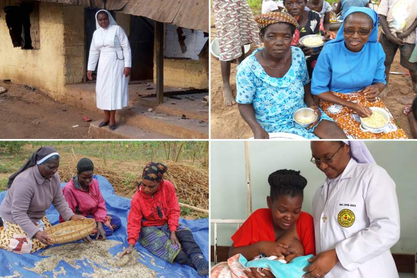 Sisters take a vow of poverty, living a life of labor and moderation. When they are serving others communities in poverty, they are living within that community and experience the same conditions.