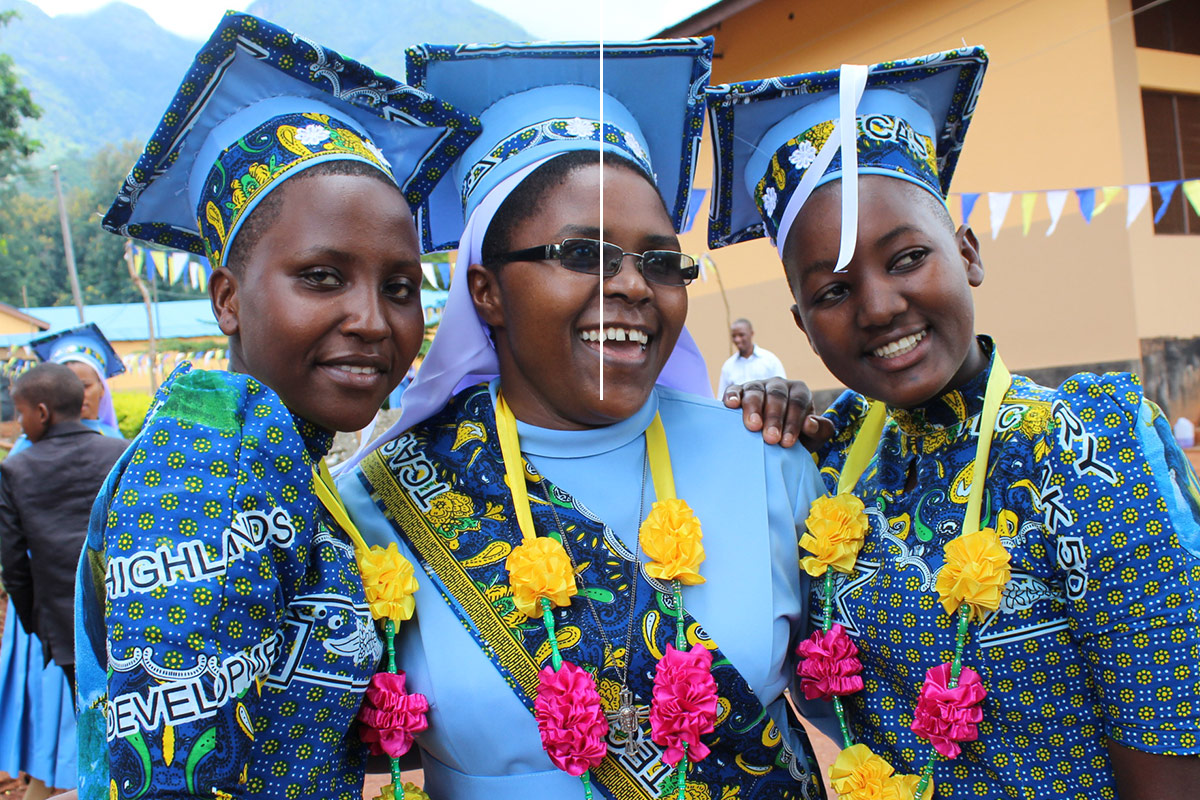 46 students graduated from Bigwa Seminary Secondary School in Tanzania. 29 of those students were able to graduate because of the ASEC two year Bigwa scholarship (April, 2018).