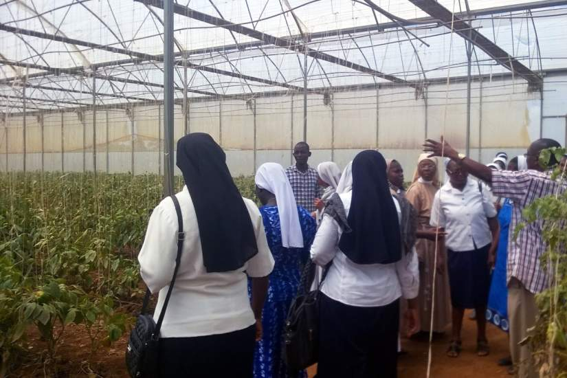 Nigerian sisters took an educational field trip to Tenti Green Farm, Vom, Plateau State.
