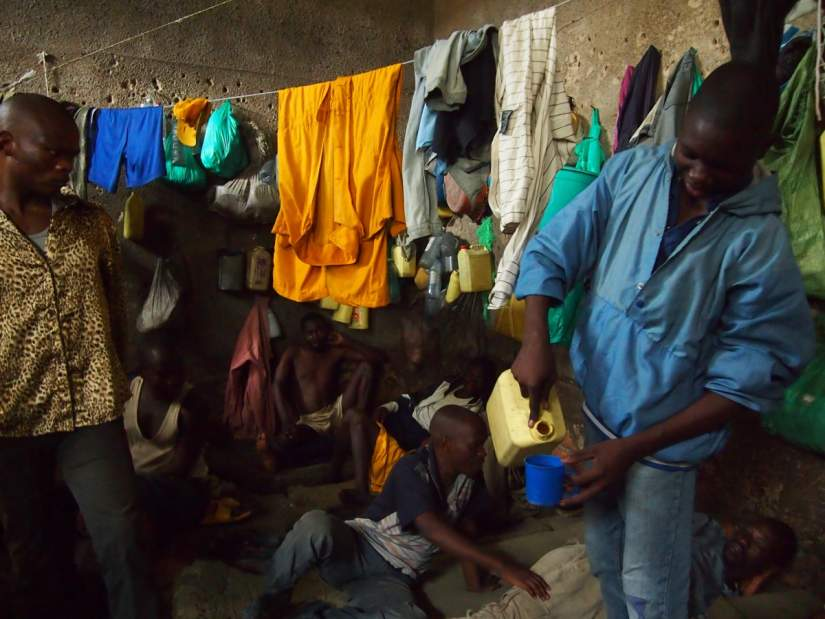 Extreme overcrowding causes unsanitary conditions for inmates in Cameroonian prisons.