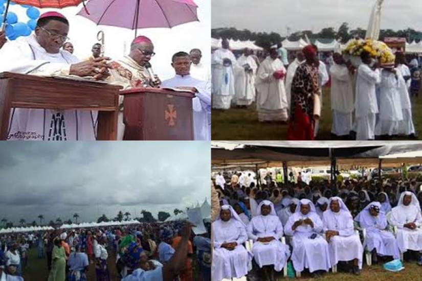 Photos from the closing of the Marian year celebrations in Anambra State Nigeria (October 28, 2017).