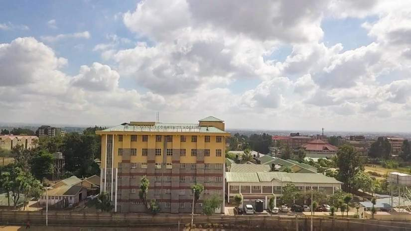 Since completing her Nursing degree through ASEC's HESA program, Sr. Esther Wairimu, LSOSF, has been promoted to CEO of St. Francis Community Hospital (above), an approved faith-based teaching and referral health facility in Nairobi.