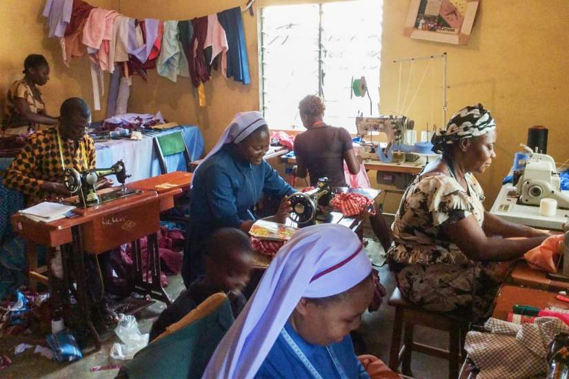 Following her participation in the SLDI program, Sr. Justina established St. Helen's Sewing Centre to employ the poor.