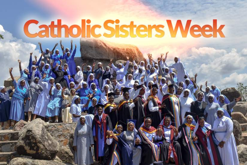 52 weeks a year women religious stand with the poor and immigrants, teach children, fight injustice, heal the sick, share spirituality, empower women, defend the planet, promote peace, create community and offer hope. But for one week each year in March, we shine the spotlight on women religious during Catholic Sisters Week. Above, sisters celebrate the graduation of HESA participants from ASEC partner university, St. Augustine University College (SAUT), in Mwanza, Tanzania.