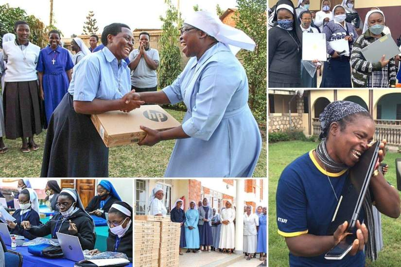 Sisters are always overjoyed to receive laptops that will assist them in their studies and ministry work. While many sisters have never used a computer, they quickly embrace the use of technology and come up with many creative and unique ways to use the laptops to enhance their service work.