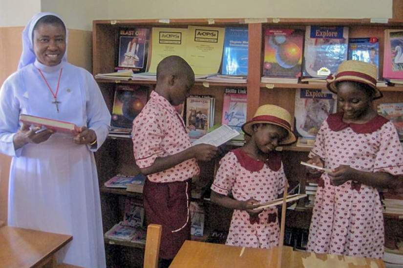Thanks to Sr. Immaculata, the library now serves over 3,000 students and staff. Through the power of reading, children now have access to books filled with knowledge.