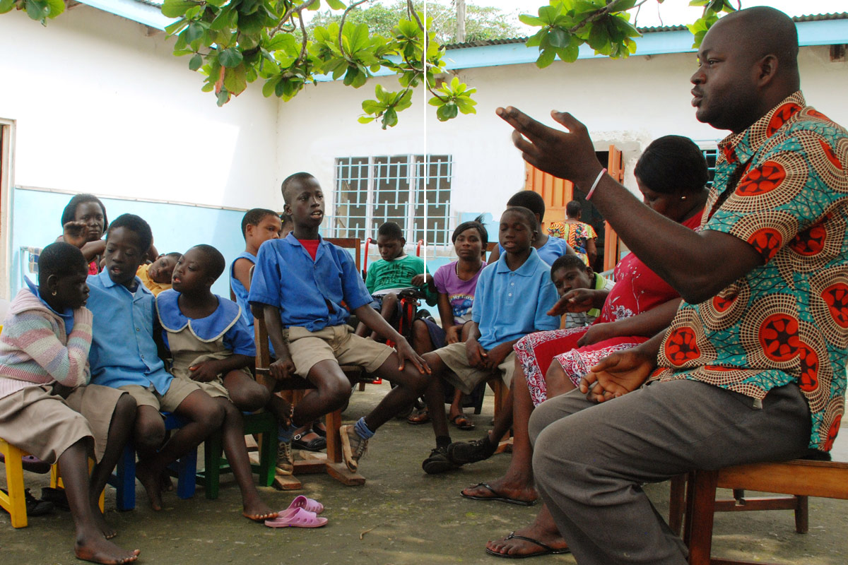 One of the sites for the 2019 Service Learning trip to Ghana is the Padre Pio Rehabilitation Centre for children and adults with diabilities. Photo courtesy of padrepio-rehab.com