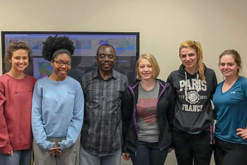 To help students prepare for the immersion experience, Mr. Samuel Ofrei, a native Ghanaian and Twi speaker (one of the more widely spoken languages of Ghana) offered a lesson in some everyday Twi expressions. We thank Mr. Ofrei for taking the time to help prepare our students for their trip!