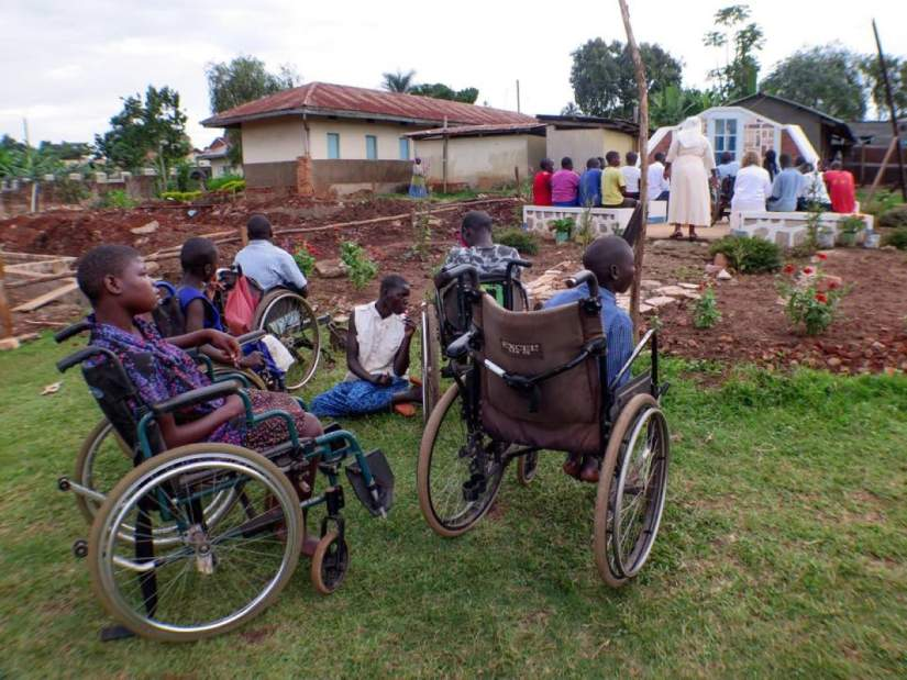 At Providence Home in Uganda, Sr. Elizabeth Swai, LSOSF launched an alternative farm project that provides fresh food for residents. The excess is sold and the proceeds support the home's operations.