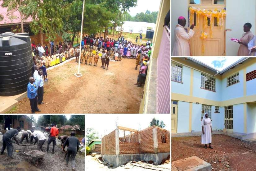 Sr. Josephine's construction projects (kitchen, dining hall and dormitory) at St. Peter Claver Integrated Education Complex.