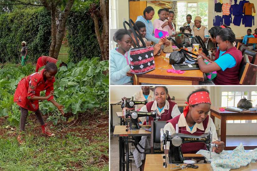 At Cheshire Home, Sr. Anne teaches girls with physical and/or mental disabilities social skills, agriculture skills, meal preparation, sewing and beadwork. The Home also offers counseling and other mental health services to ensure the girls can reach their full potential.