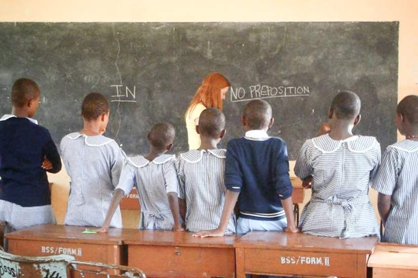 During the 2015 Service Learning Trip, participants tutored English to students at Bigwa Secondary School in Morogoro, Tanzania.