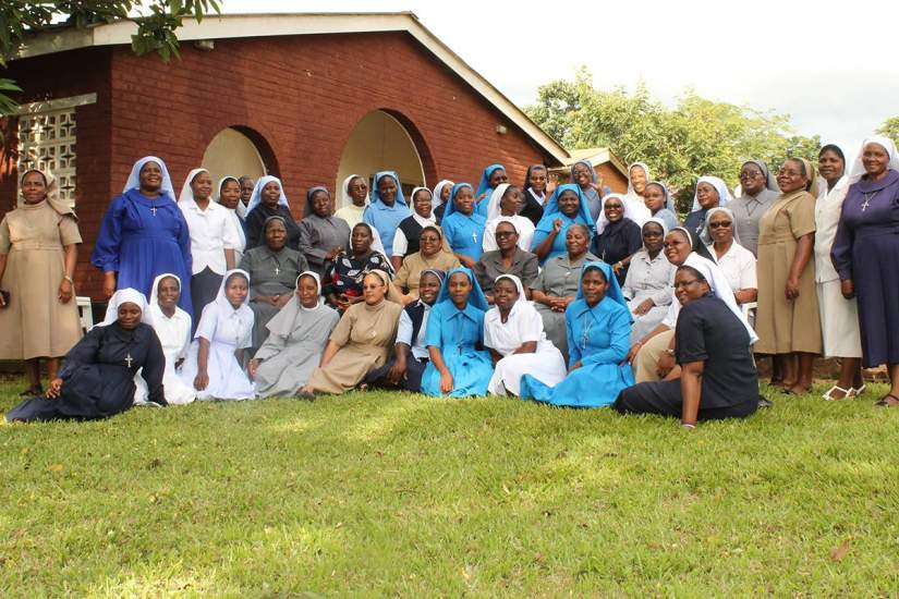 Malawian sisters who graduate from ASEC's programs are invited to annual Alumnae and Reflective Learning Workshops. This enables sisters to continue networking and continue their education through presentations and discussions on relevant topics and emerging issues. Pictured: Participants of ASEC Alumnae Workshop in Malawi (February, 2020).