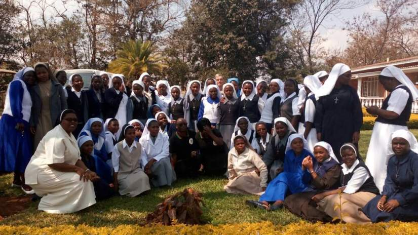 Group photo of Sr. Teresa's first workshop/class. Congratulations, Sr. Teresa. We are proud of your accomplishment.