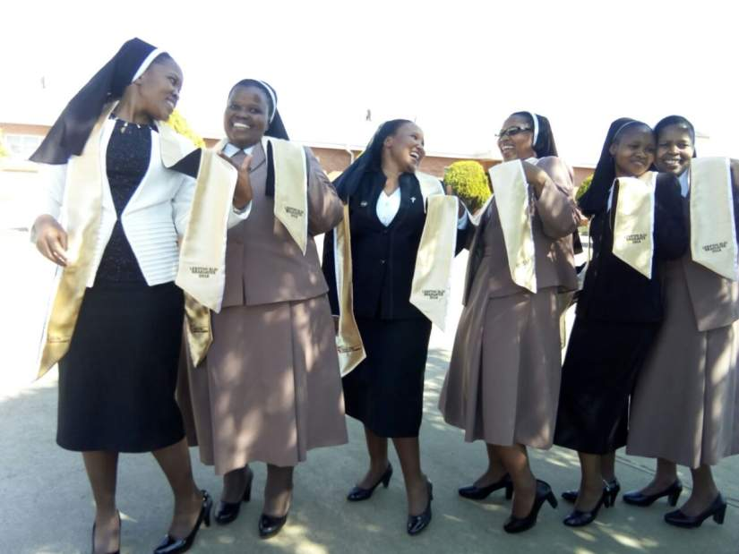 The first SLDI graduation in Lesotho, where 22 sisters were honored for their hard work and successful completion of the program curriculum (Oct., 2018)