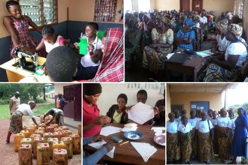 SLDI alumna Sr. Caroline Acha, SST, created a Women's Empowerment Center in rural Cameroon where she offers training and education to local women, which helps them create and obtain jobs.