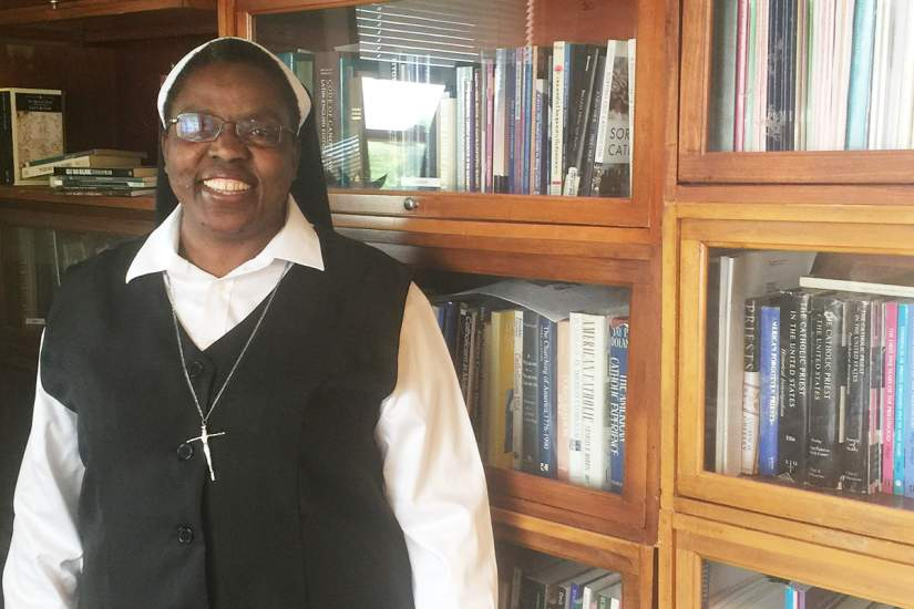 Sr. Joan Chisala, CSJB, of Zambia, is the third African sister to be awarded a six-month fellowship to work as part of a research team at the Center for Applied Research in the Apostolate (CARA) at Georgetown University in Washington, D.C.