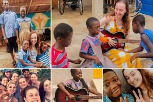 Service learning participant donates musical instruments to Ghanian children with special needs