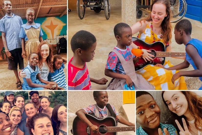 Service Learning participant Kirsten Gillern shares her experience at Padre Pio Rehabilitation Centre, where she donated over 200 instruments for special needs children at the centre.