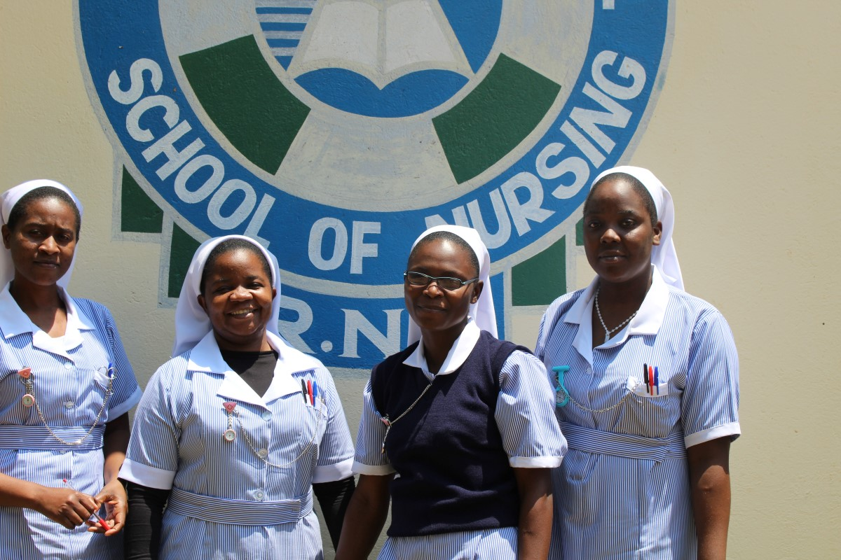 HESA students studying at Monze Registered Nurse and Midwife Program in Zambia.