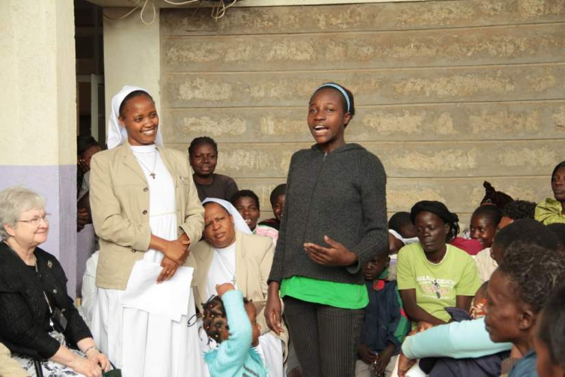 Sr. Esther began her ministry work with a community based health care program, caring for HIV/AIDS patients living in the Nairobi slums.