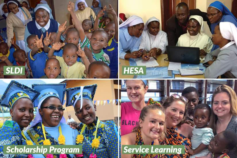 ASEC has four flagship programs: Sisters Leadership Development Initiative (SLDI), Higher Education for Sisters in Africa (HESA), Scholarship Program and Service Learning.