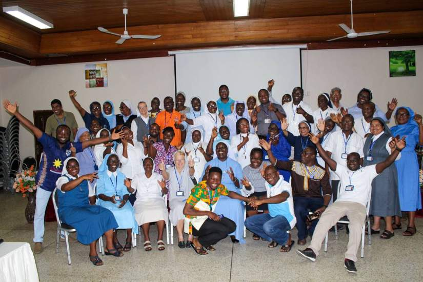 Conference of Major Superiors of Religious in Ghana (CMSRGH) and local consultants working together to improve internal systems during ASEC's first year of the pilot Institutional Capacity Building (ICB) program.