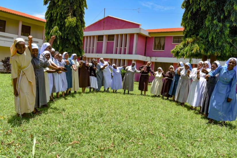 In March 2020, sisters participating in ASEC's Scholarship Program in Tanzania gathered for orientation, thanks to our generous donors who sponsor them.