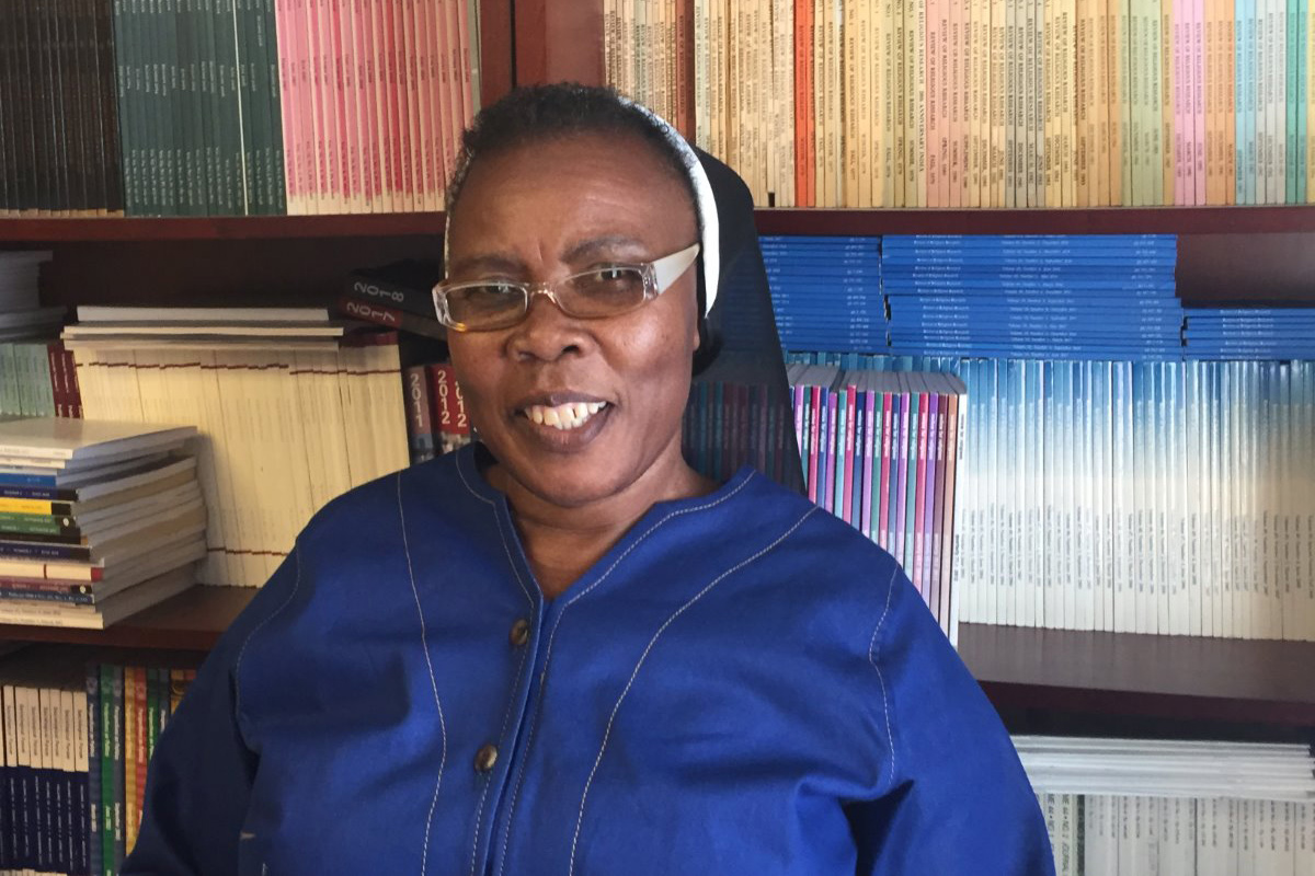 Sr. Aloysia Sebueng Makoae, SNJM, Lesotho, arrived at Georgetown on February 7, 2020 for a six month research fellowship.