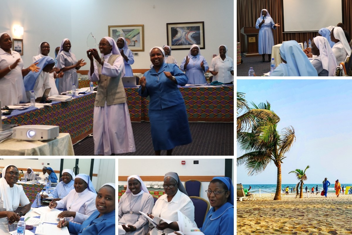ASEC staff gather together in Ghana to celebrate accomplishments and build stronger collaborative relationships.
