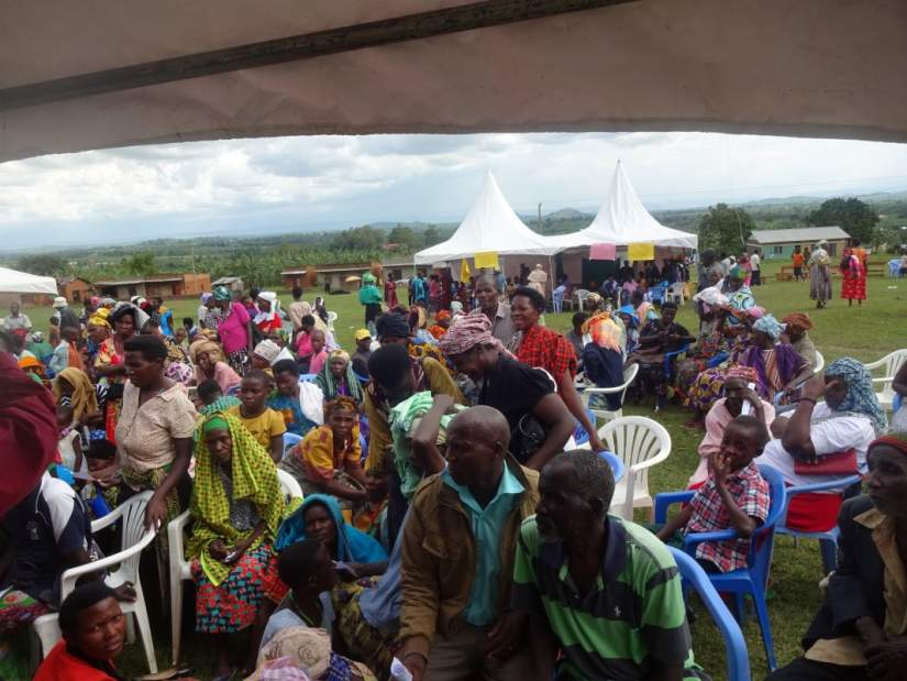 The free two-day camp took place at St. Claret Health Centre in western Uganda, benefiting 1743 people, including many women and children.