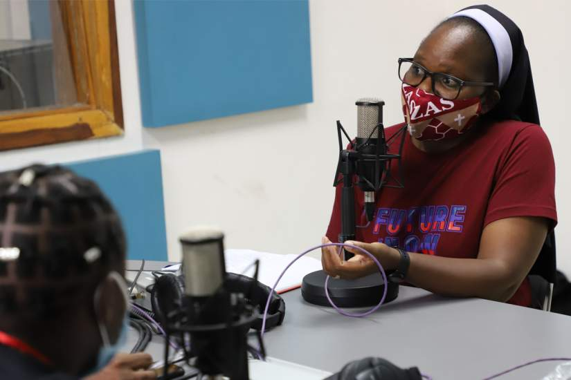 Sr. Astridah recognized that most public health messages regarding the pandemic were only being transmitted in English, which made the information inaccessible to many Zambian citizens. So, she invited other sisters on her radio program in order to translate critical pandemic information to local dialects.