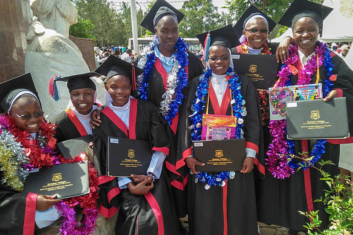 HESA students graduate from Tangaza College, Kenya (May, 2018).