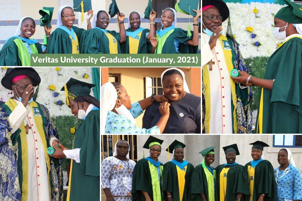 "Through ASEC's HESA program, 37 sisters graduated from ASEC partner institution, Veritas University, on January 30, 2021, in Abuja, Nigeria. Five HESA graduates were recognized at the ceremony, receiving awards for ""best in class"" in their respective academic departments."