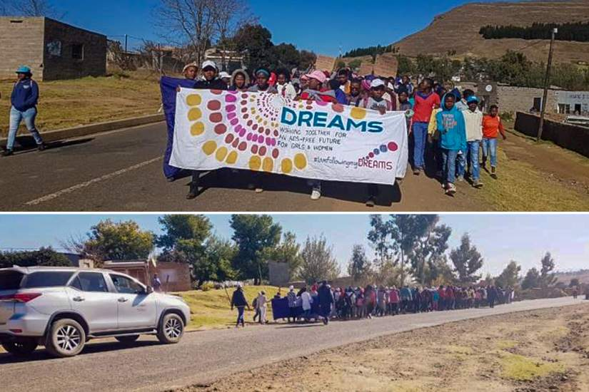 1,800 individuals participate in a community service day organized by Sr. Anacletta and the DREAMS project.