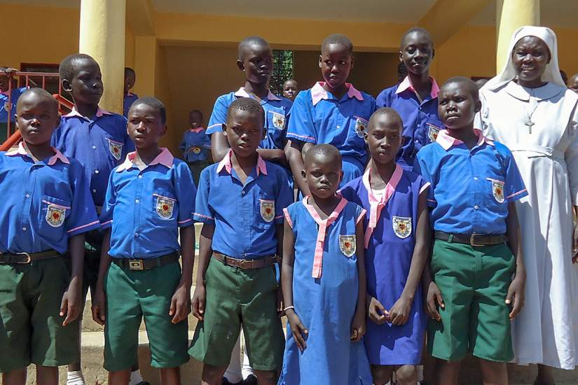 The school fees for these ten children, studying at Usratuna Primary School, were paid by the grant.