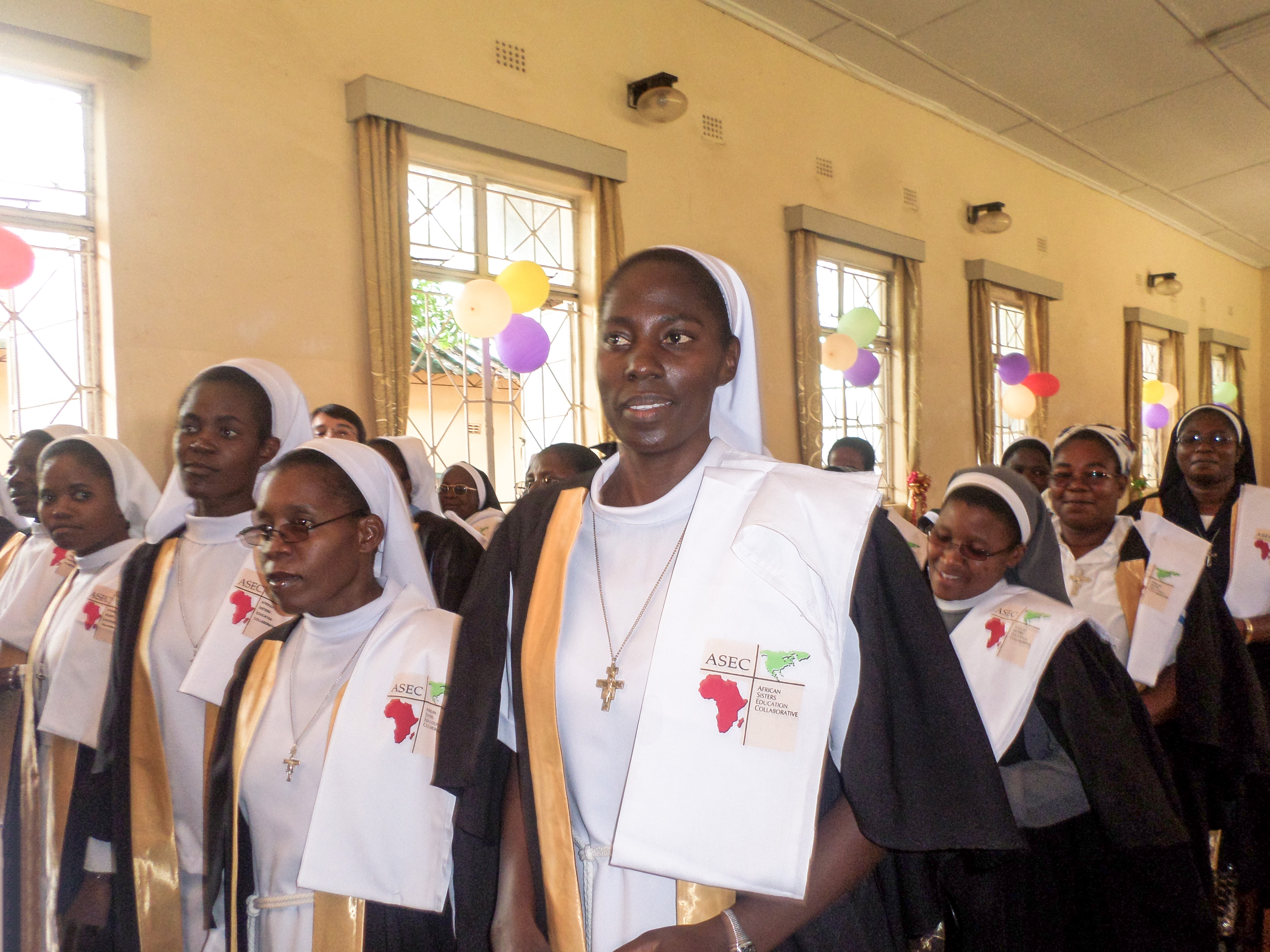 Sr. Cecilia and other ASEC participants from Zambia graduating from the SLDI Program, Finance Track (December, 2015).