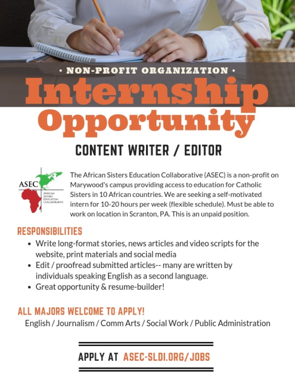 Job Description- ASEC Writing Internship