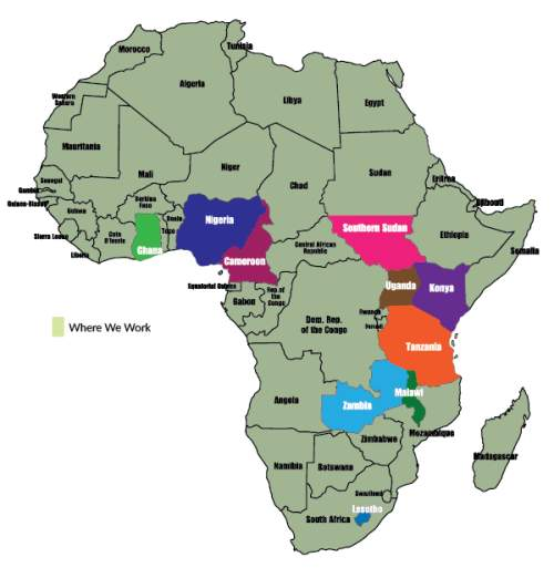 African Countries Served by ASEC