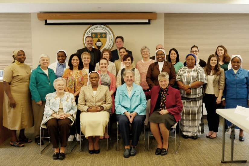 ASEC Advisory Board members pose with ASEC staff after their annual meeting held on April 24, 2017.