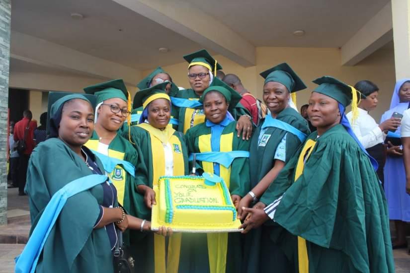 HESA 2020 Veritas University graduates celebrate in Nigeria.