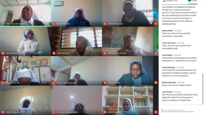 Sisters in Zambia participate in