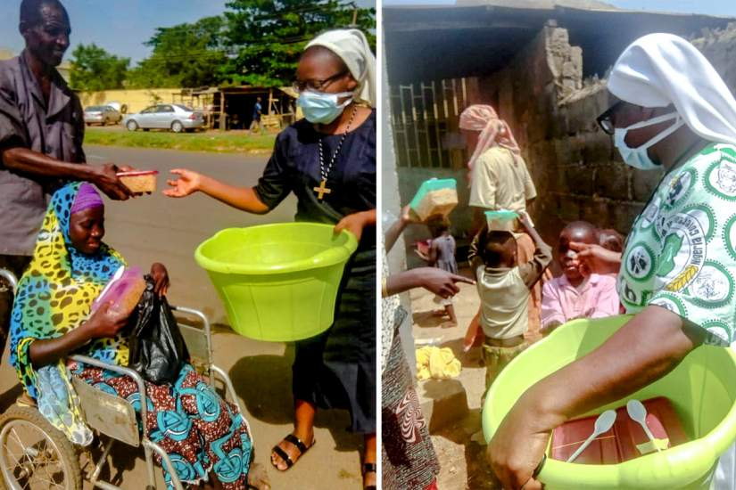 In Nigeria, the Notre Dame sisters and ASEC Program Director, Sr. Veronica Fatoyinbo, share what little resources they have with the poor in their community.