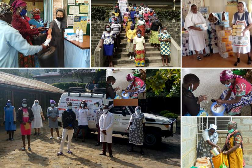 The Salesian Sisters of St. John Bosco in Nairobi, Kenya, received grant funding so the sisters could provide masks, sanitizers, soap and food to the vulnerable in the community and safety equipment to their healthcare workers.